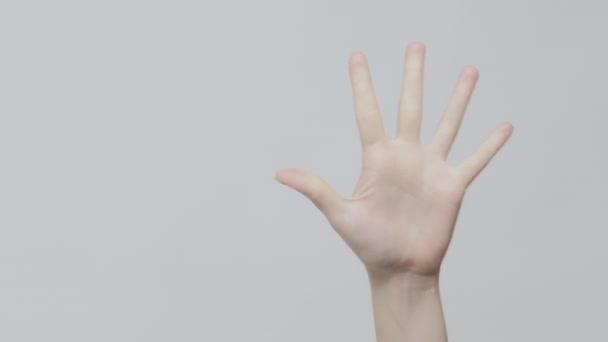 Visszaszámlálás gesztus kéz kiszámítása mutató ujj