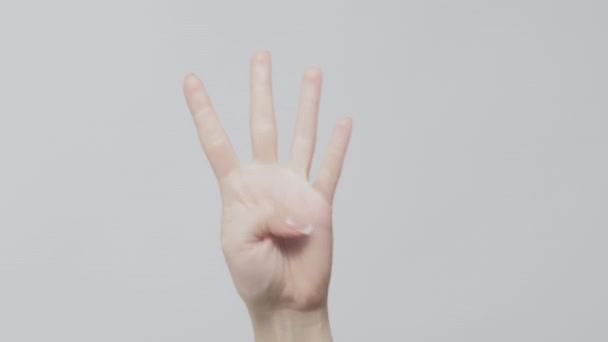 kéz gesztus visszaszámlálás időzítő ujjak 5-1