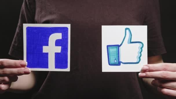 facebook like logo follow social media hands icon