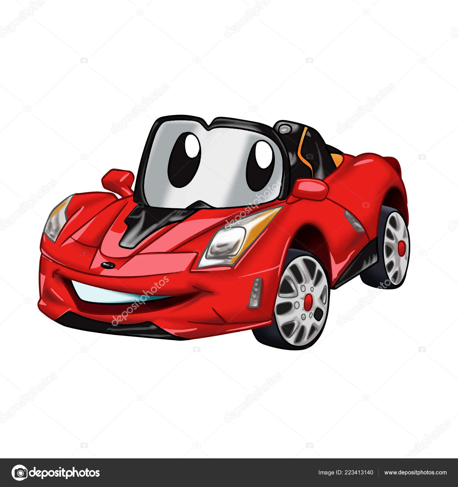 Fast Car Cartoon Red Car Cartoon Cars Kids Vector
