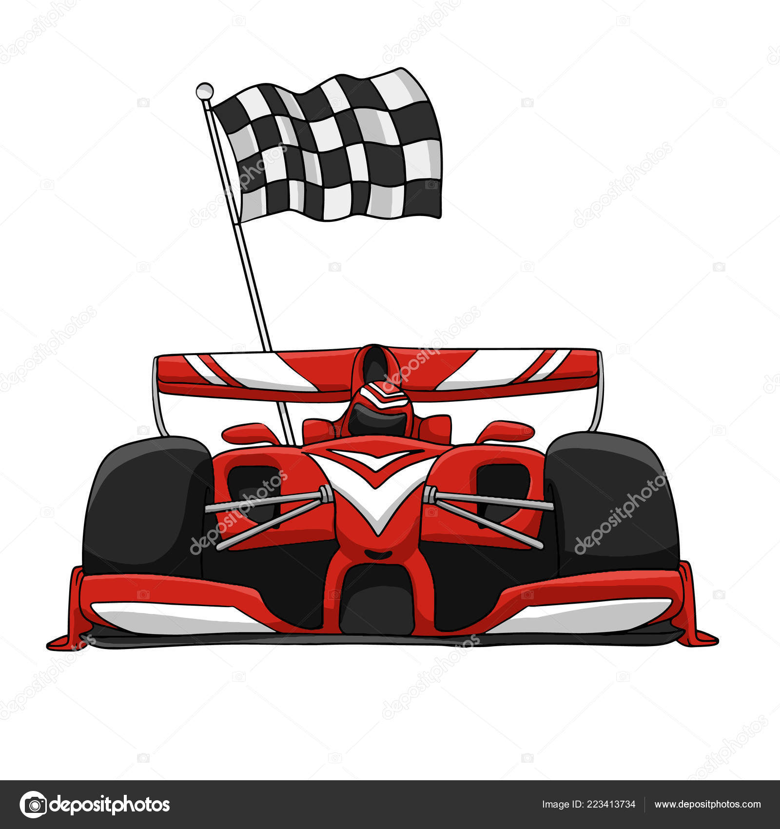 Sport Car Fast Car Cars Kids Vector Illustration Stock Vector