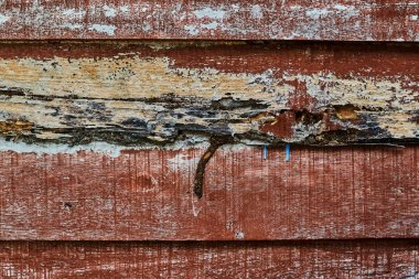 Texture of closeup of old brown wood planks use as natural background. Old wood texture. Grunge retro vintage wooden board. Dusty background.