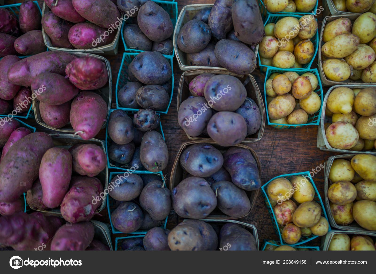 Organic Potatoes Farm Fresh Vegetable Beautifully Displayed