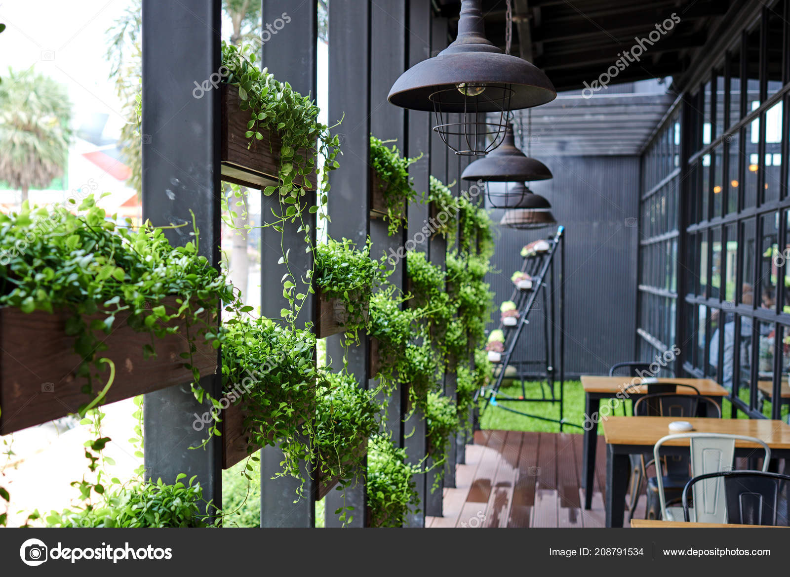 Eco Architecture Green Cafe Hydroponic Plants Facade Ecology Green