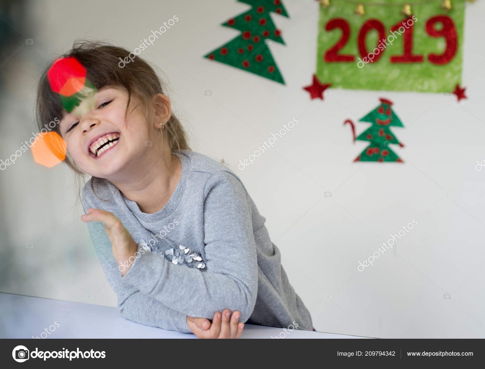 Kerstverlichting Prettige Kerstdagen Gelukkig Nieuwjaar 2019