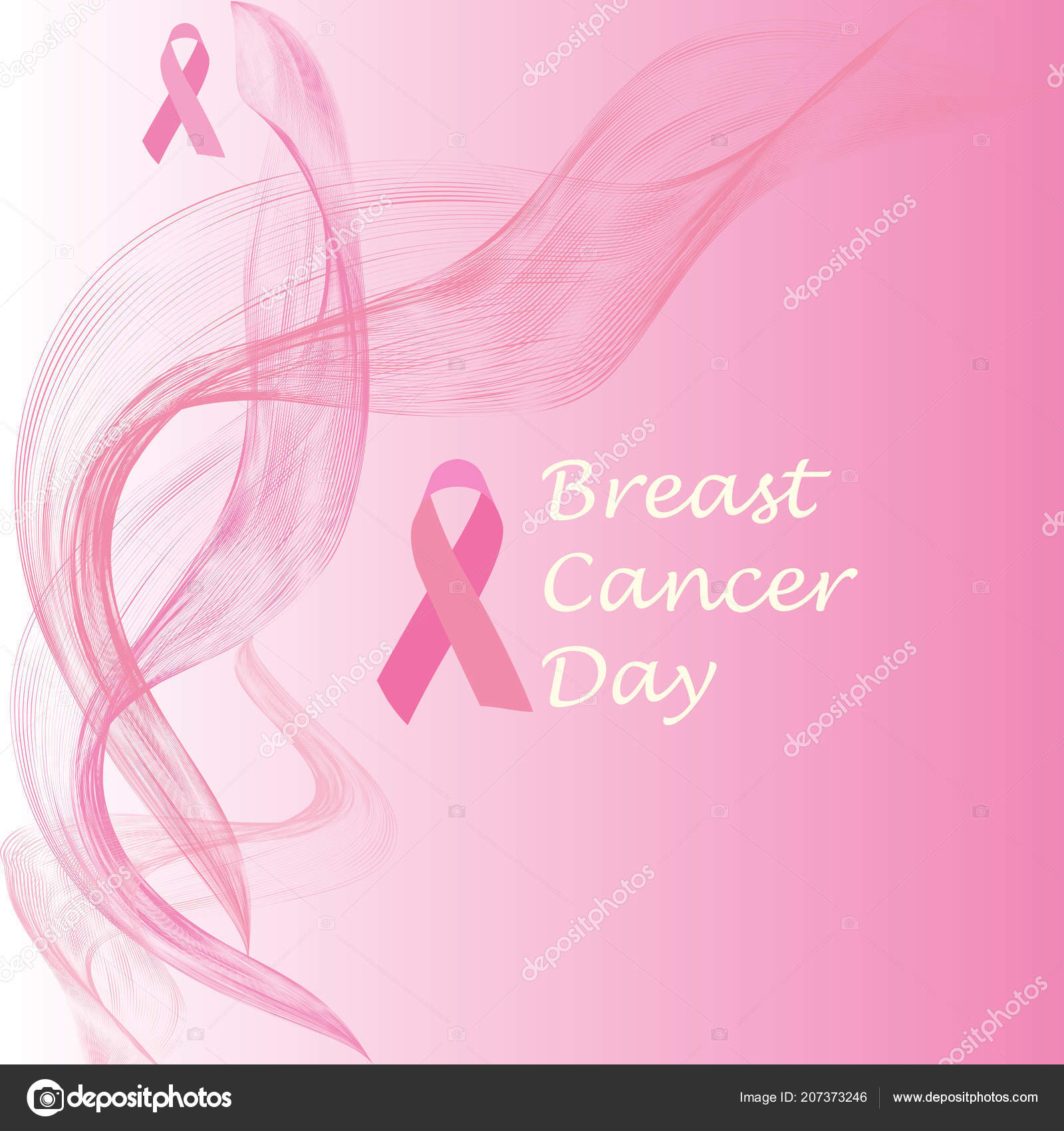 Breast Cancer October Awareness Month Campaign Poster Ribbon Sign Woman Stock Vector C Miller22 207373246