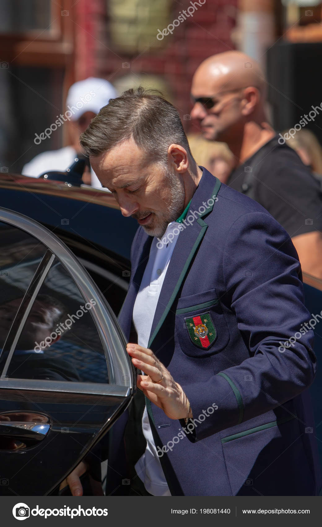 Kiew Ukraine 2018 Mai David Furnish Wird Aus Dem Auto