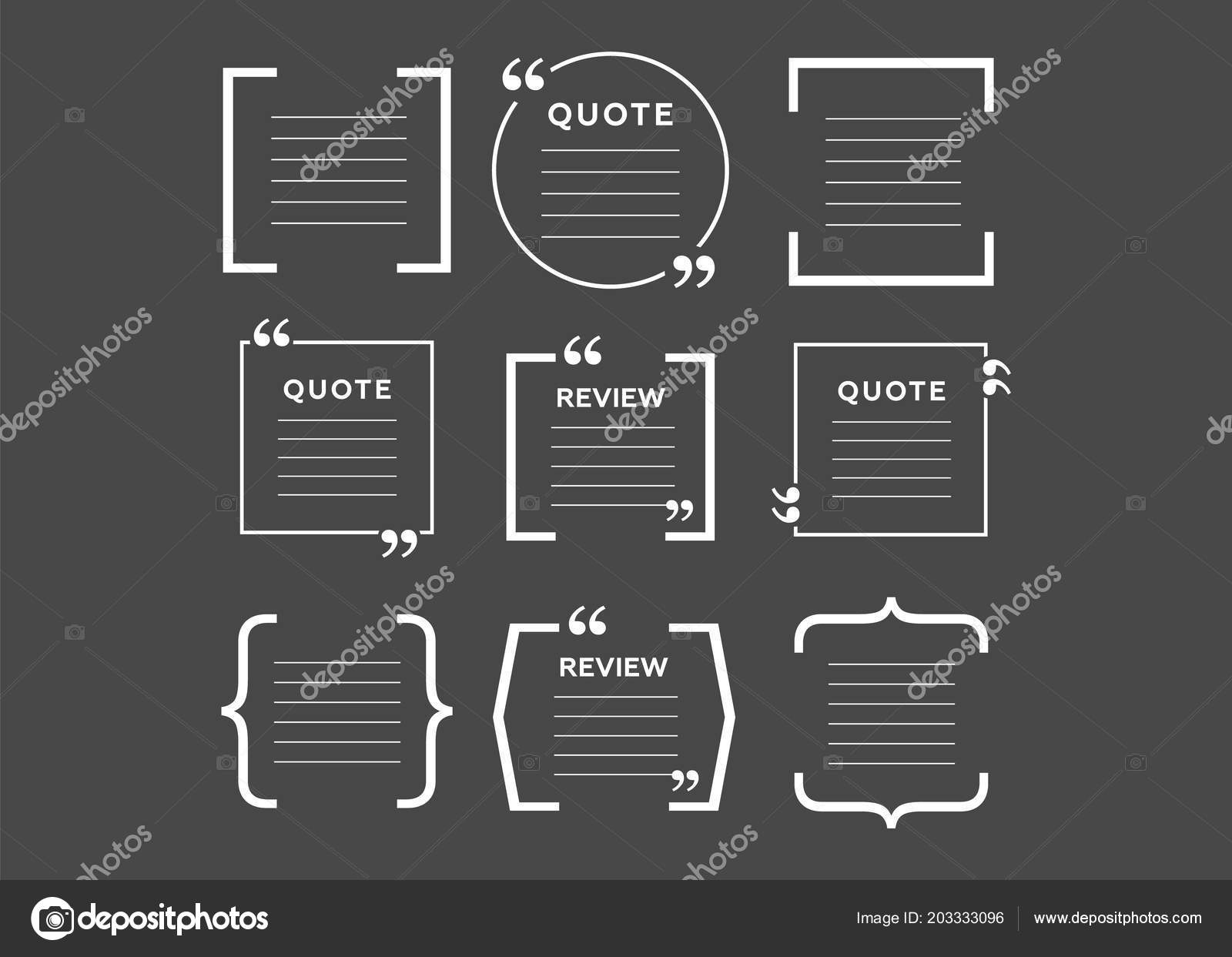 quote blank template empty quote bubble color quote bubble stock rh depositphotos com
