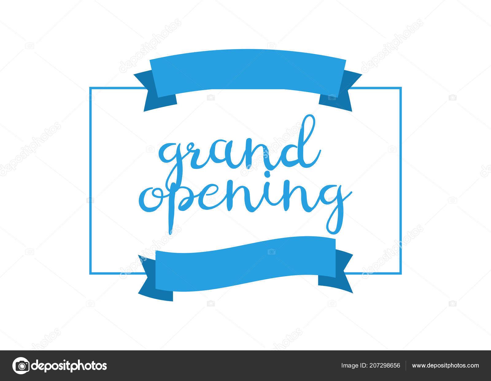 Gran Inauguración Tarjetas Invitación Celebran Ceremonia Con