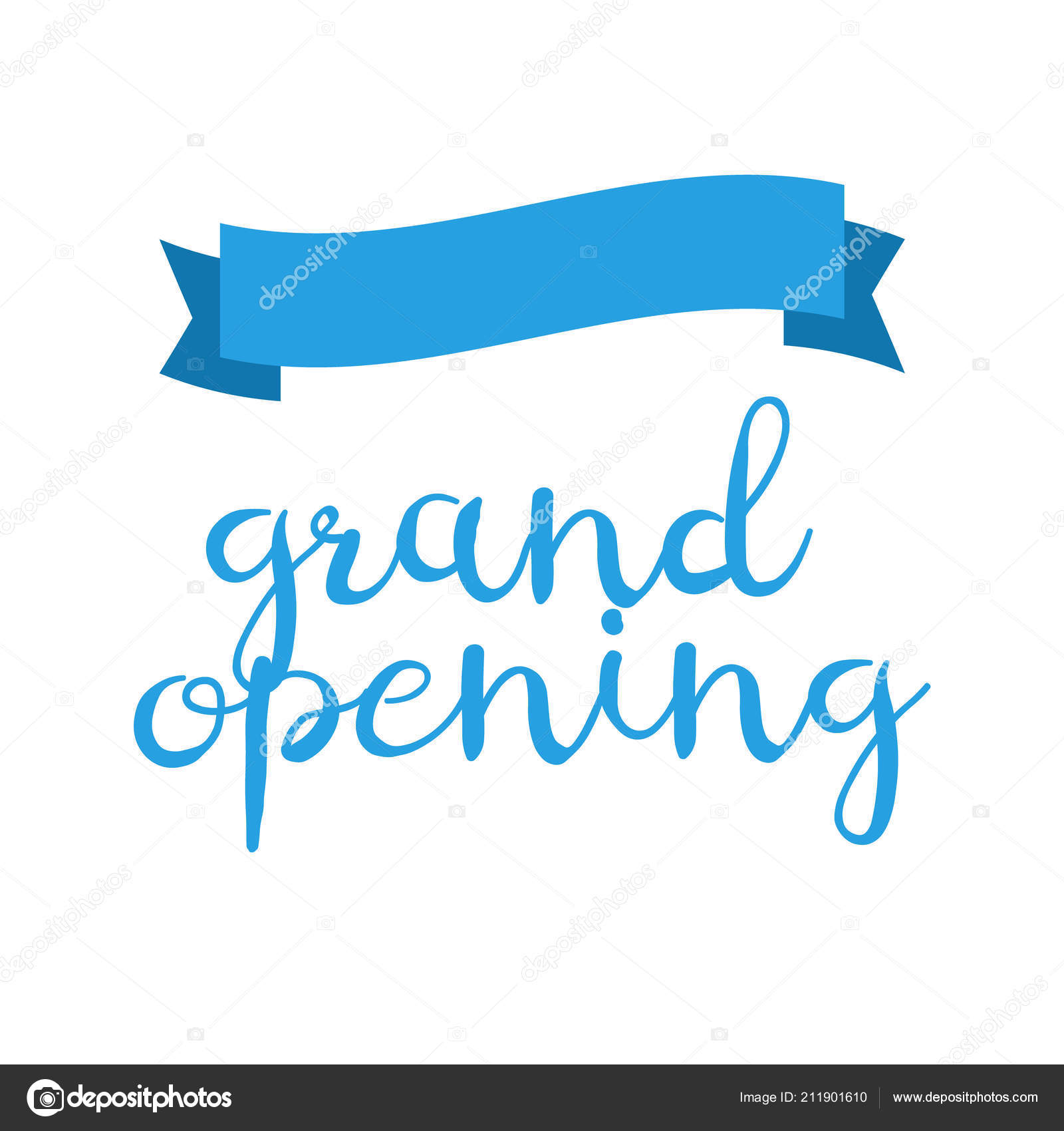 Grand Opening Invitation Cards Celebrate Ceremony Blue