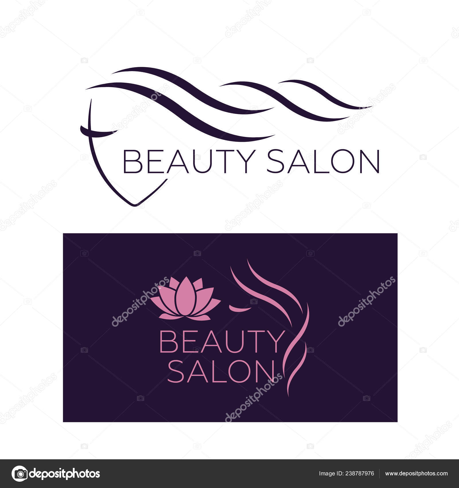 Beauty Logo Hair Salon Logo Hair Vector Stock Vector C Myub 238787976