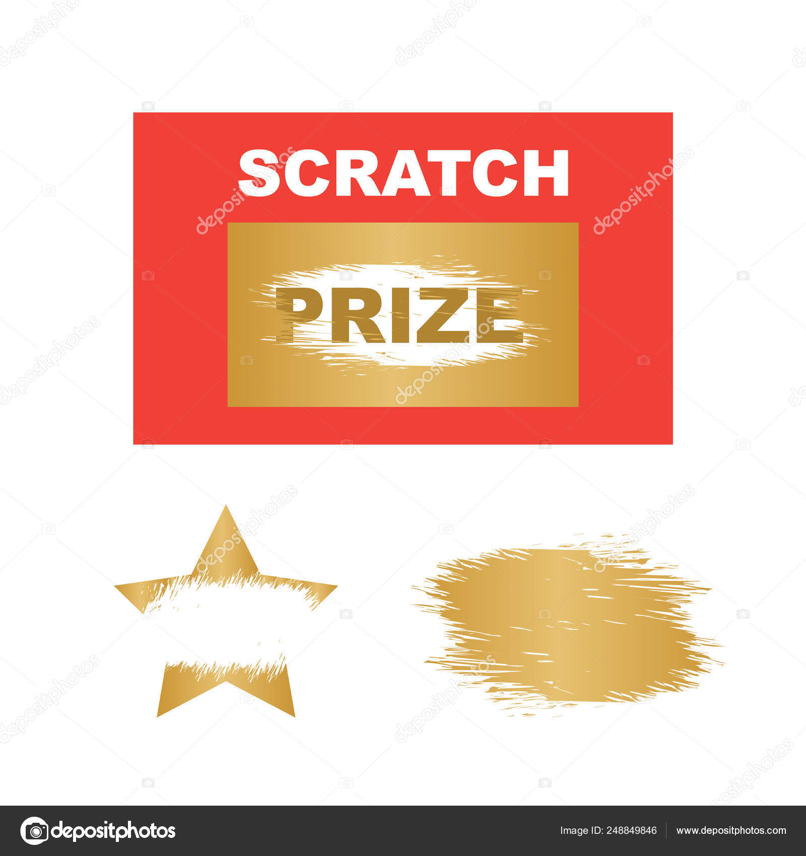 Template cards with scratch and win letters  Lottery scratch