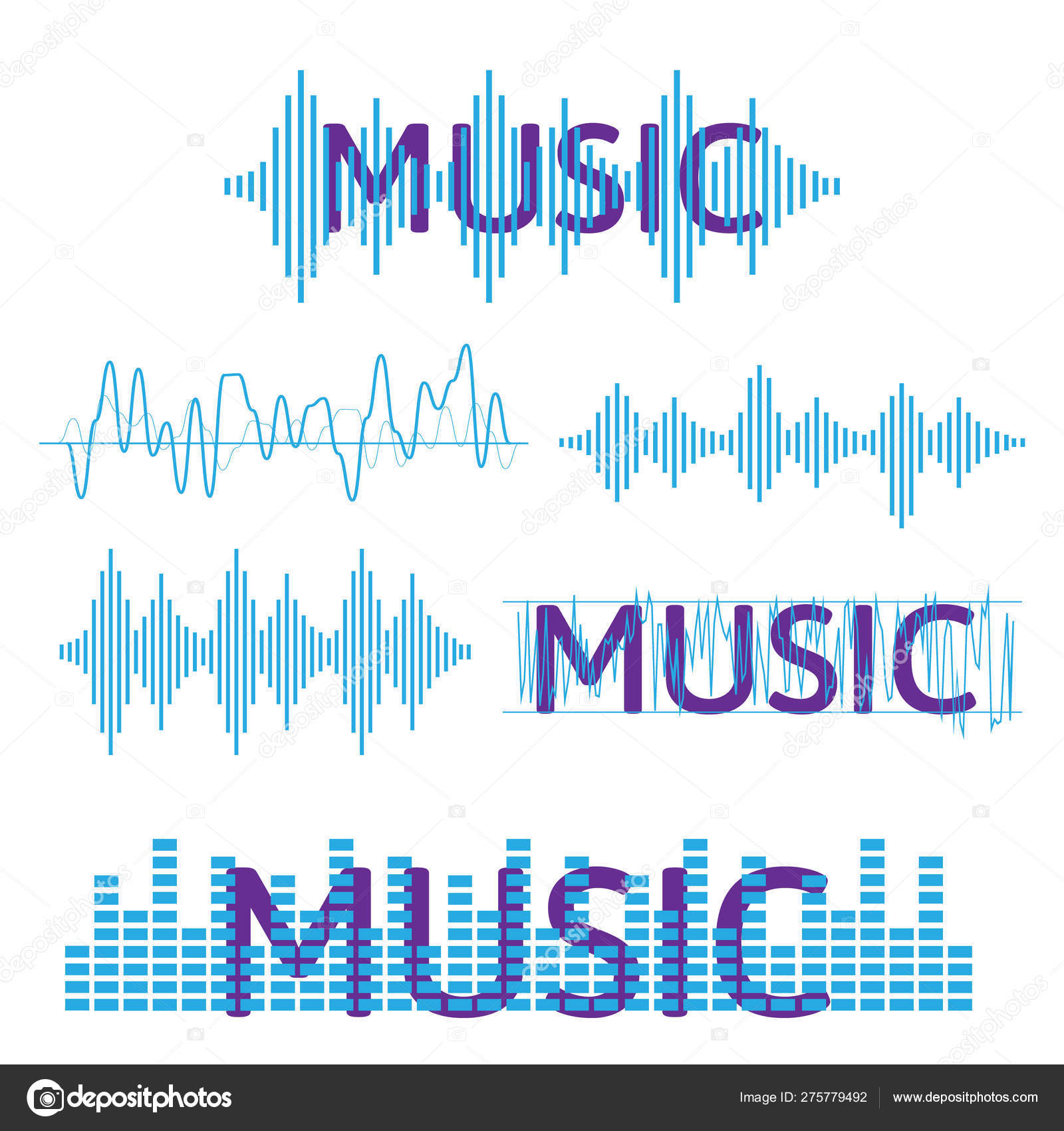 Sound waves vector  Sound waves sign and symbol in flat
