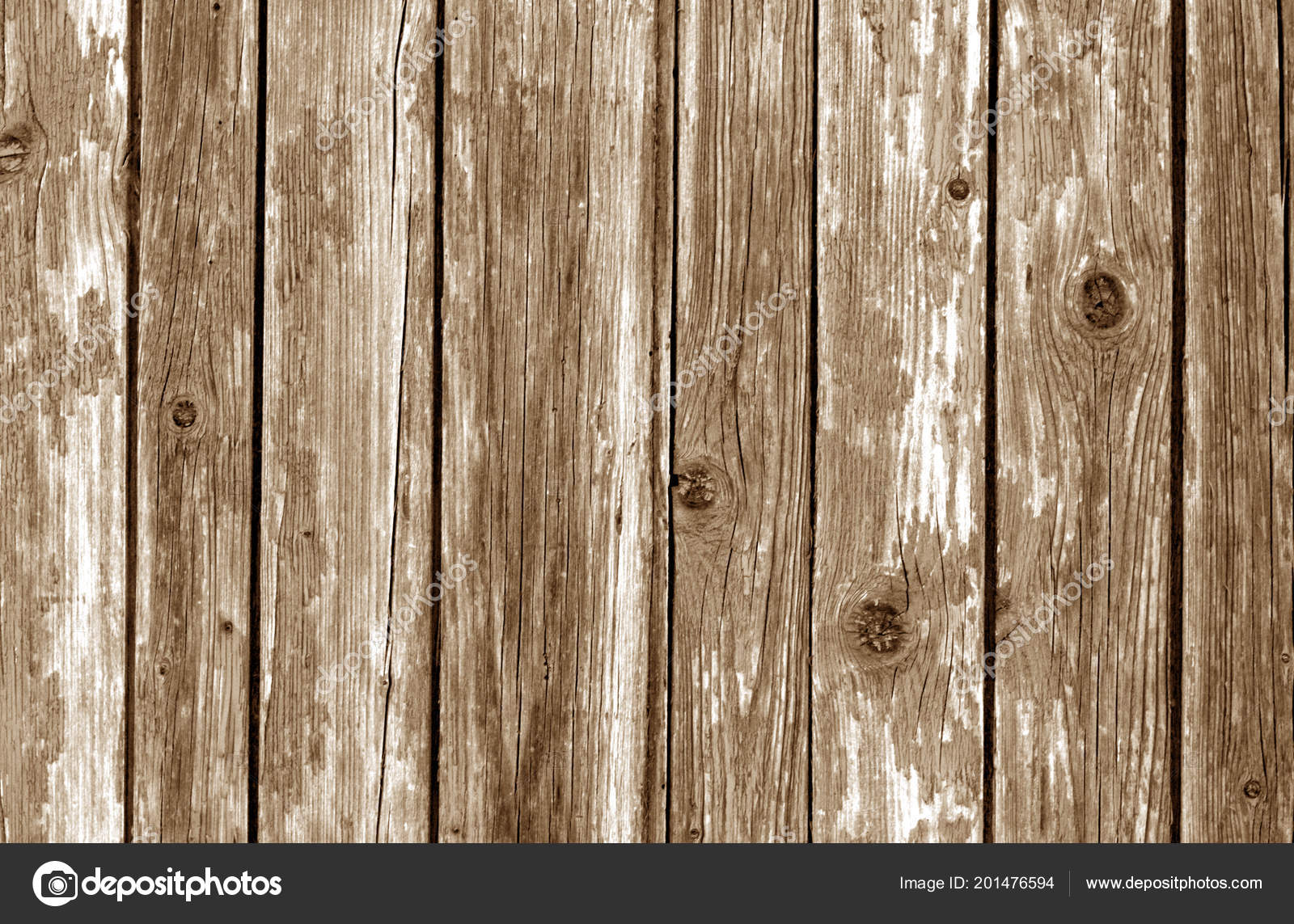 Old Wooden Fence Pattern Brown Color Abstract Background