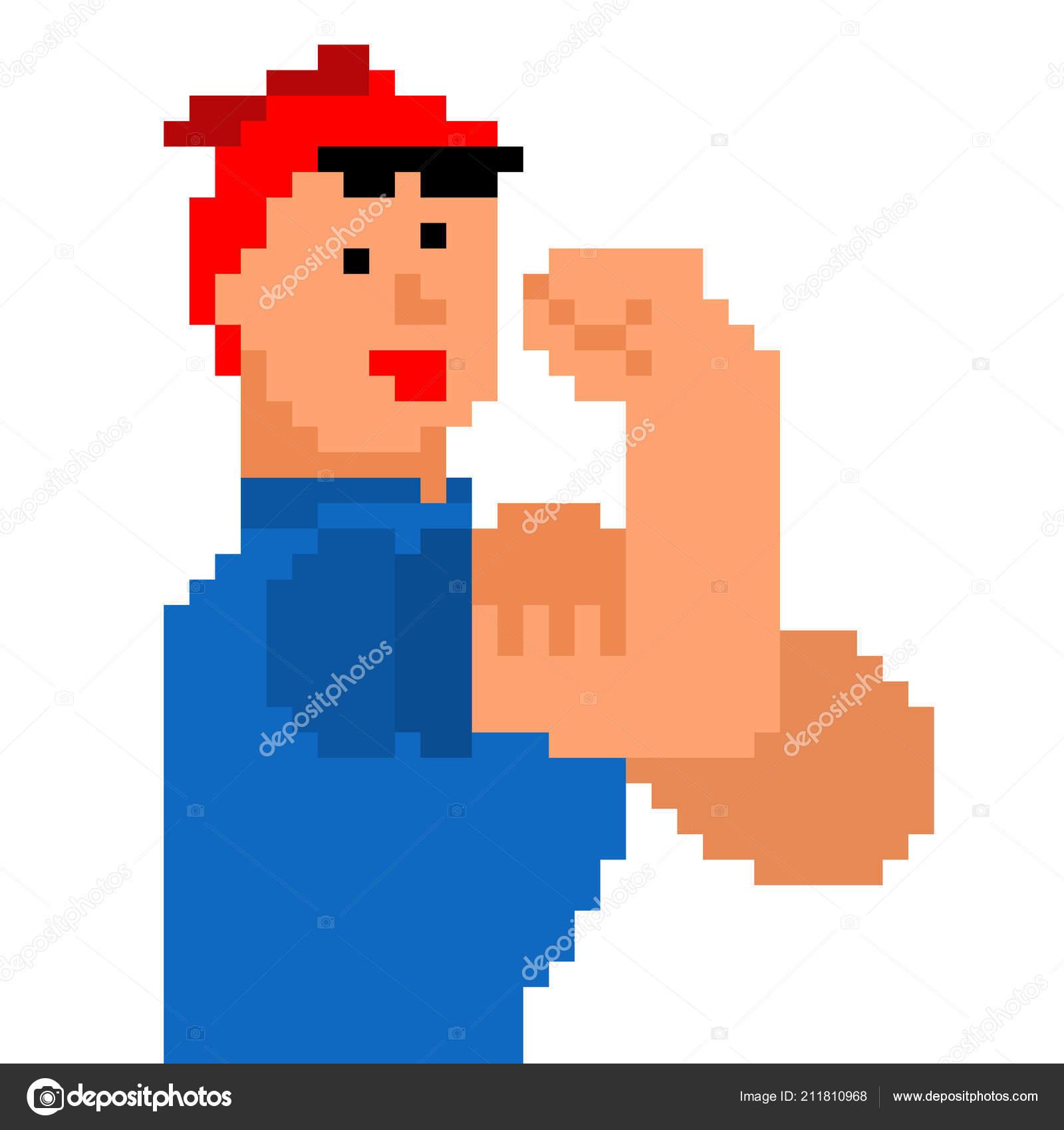 Nous Pouvons Faire Pixel Art Femme Symbole Puissance