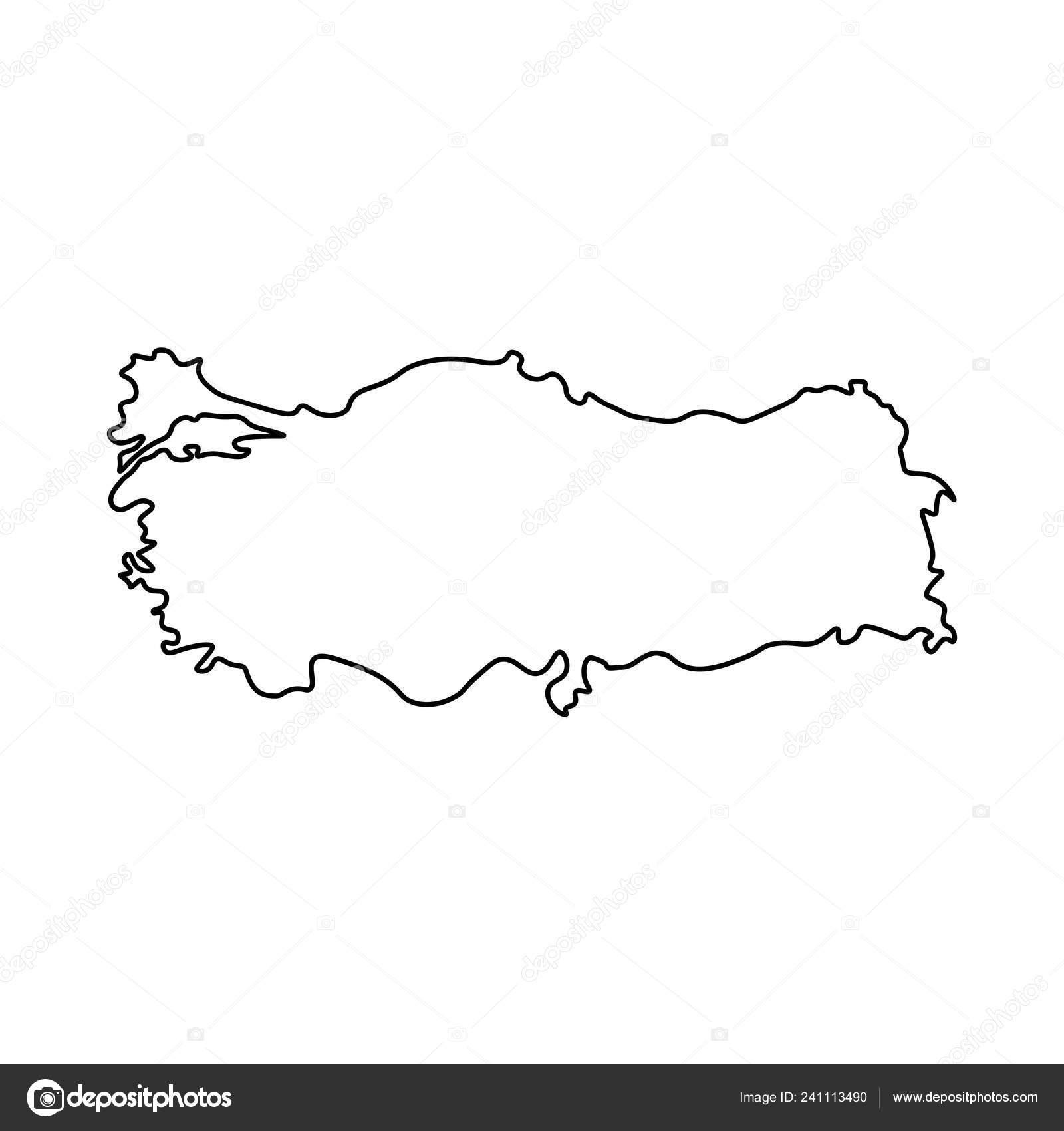 Map Turkey Outline Silhouette Turkey Map Vector Illustration ...