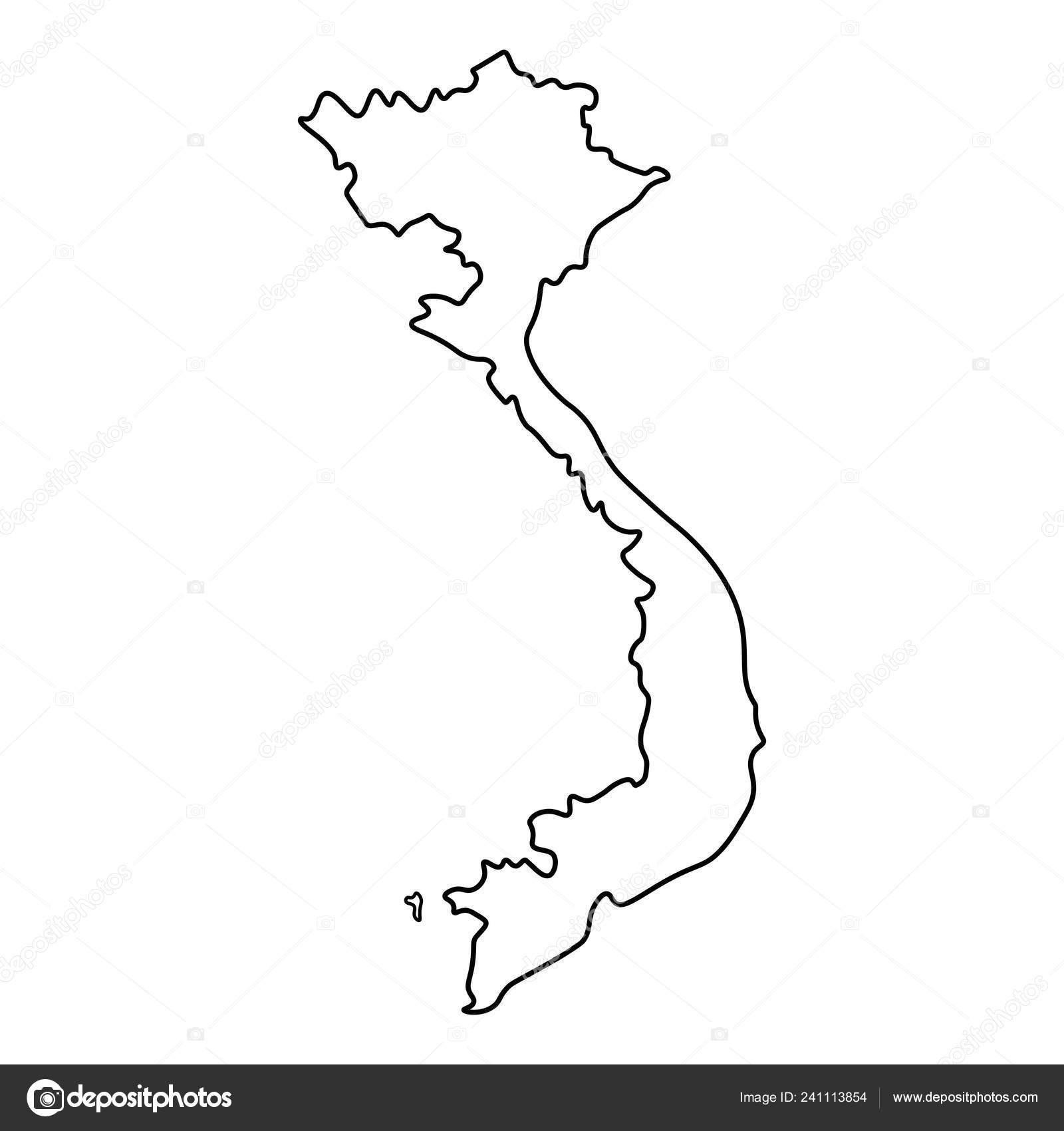 Picture of: Map Vietnam Outline Silhouette Vietnam Map Vector Illustration Stock Vector C Ollegn 241113854