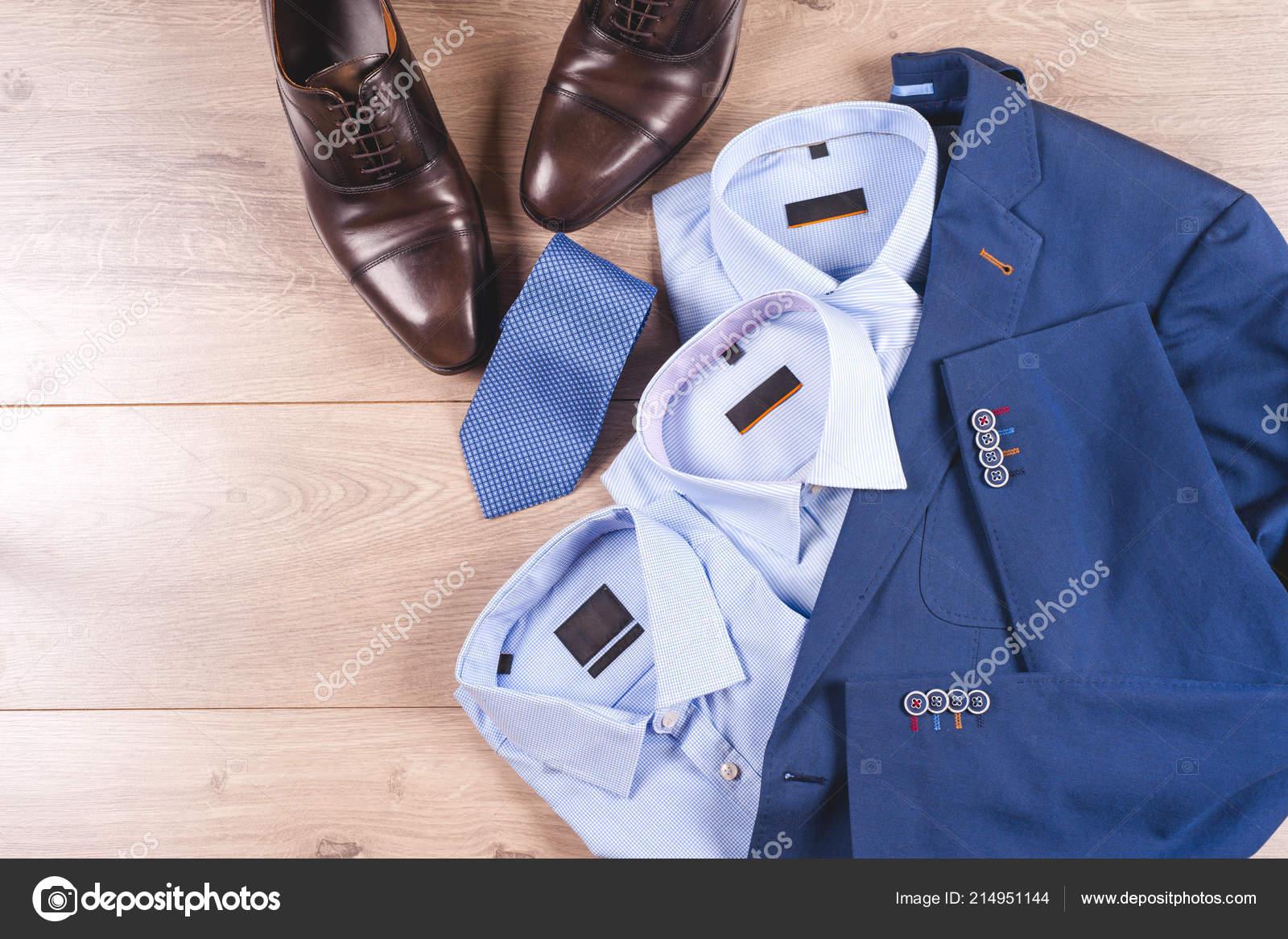 b39123268cf00 De Camisas Ropa Traje Hombre Para Zapatos Azul Conjunto Clásicos dxTqBxn