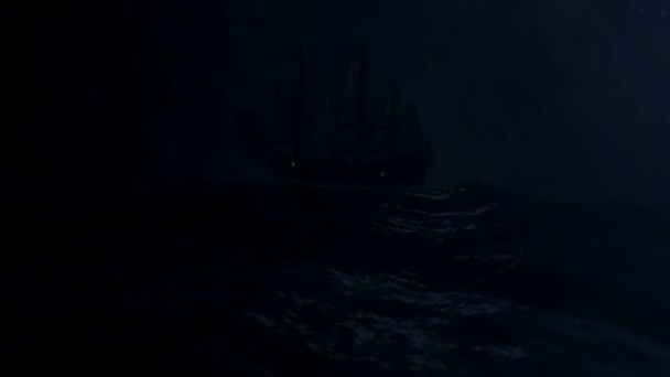 Vitorlás hajó, A közepén egy nagy vihar a tengeren sodródó
