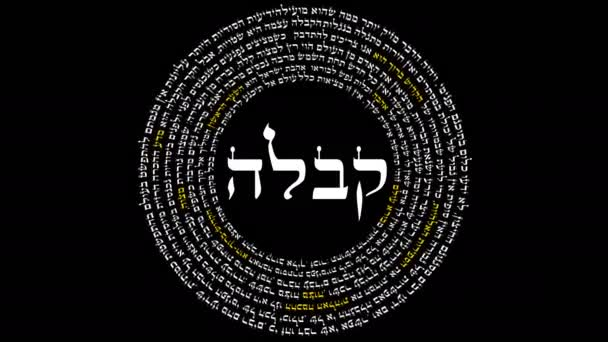 The Word Kabbalah Surrounded By Words of Hebrew Wisdom