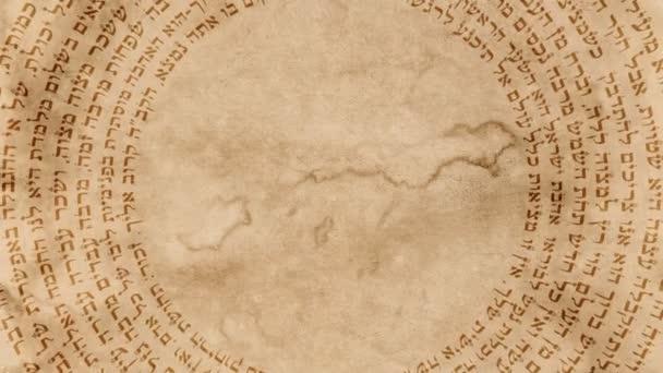 Židovské hebrejské Svatá slova na staré papírové pozadí
