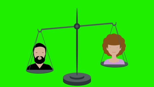 Inequality on Scales Between Men and Women Green Screen