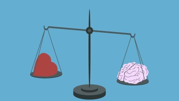 Brain Vs Heart on Scales