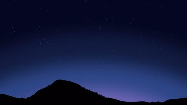 Beautiful Night Sky with Shooting Stars Animation