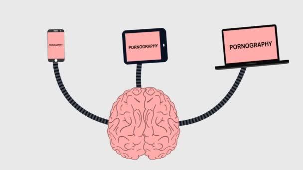 Mozek přijímá pornografie z média