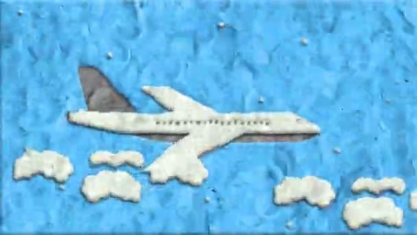 Letadlo z hlíny v Stop-Motion
