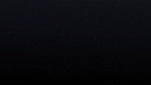 Sat-Kreuzung sternenklaren Nachthimmel
