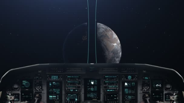 Getting Close to a Planet with Spaceship Cockpit