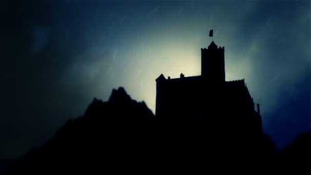 Drakula kastély Vlad Impaler alá eső vihar