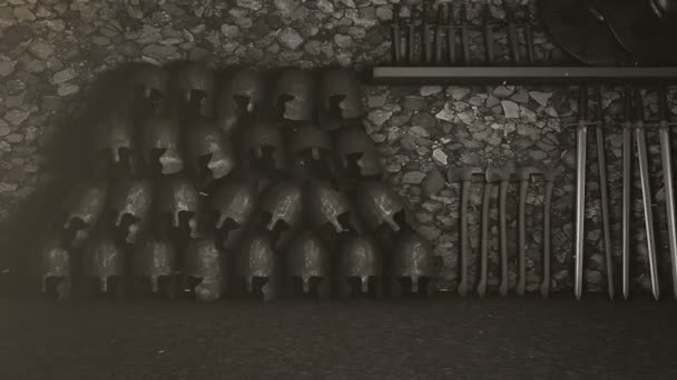 A Medieval Arsenal Packed with Weapons