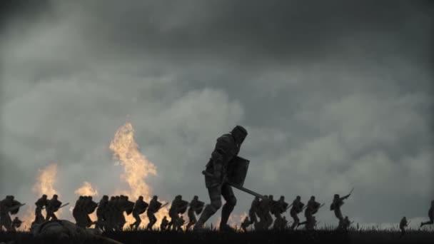 Knight Drop Dead in a Battle Field