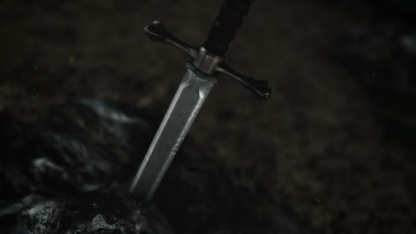 ein legendäres Schwert in einem Felsen