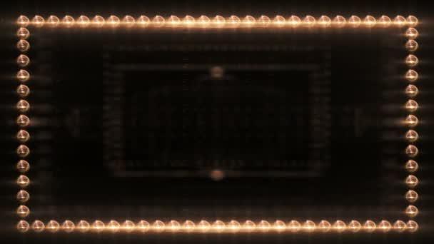 ein Rahmen aus bunten Leuchtraketen leuchtet