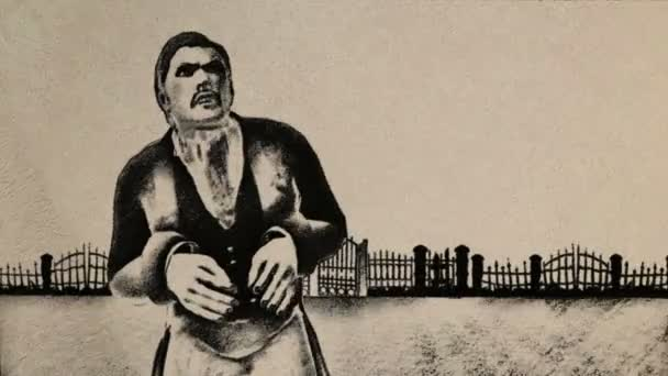 Děsivý a hladový upír v klasickém stylu starého filmu