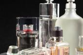 Fotografie perfume bottles on dark background