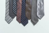 Photo male ties isolated on white background