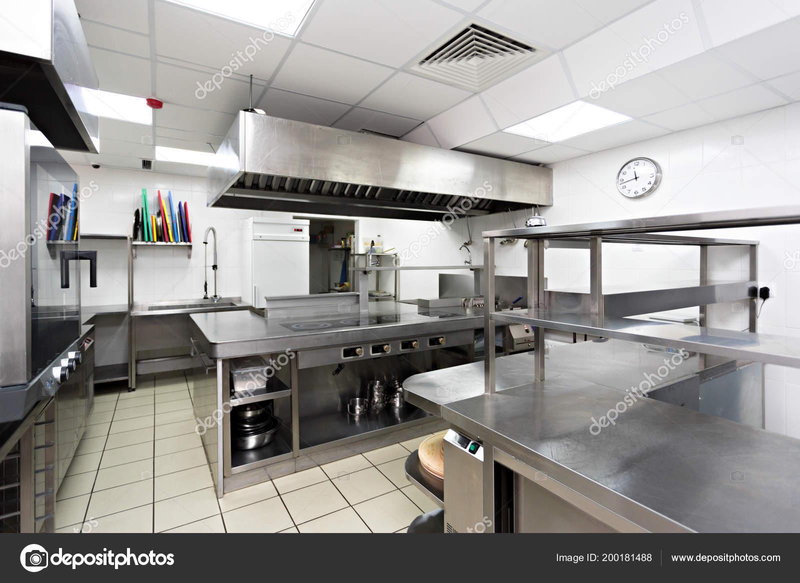 Modern Metal Kitchen Equipment Restaurant — Stock Photo ...