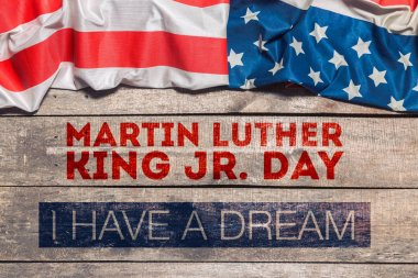 Happy Martin Luther King day greeting card