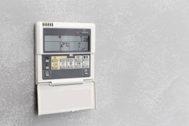 Air Conditioner Remote Control in a hotel room