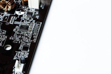 Electronic waste isolated on white background