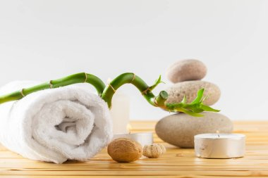 Spa and massage concept, spa objects