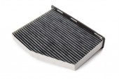 Photo air filter  isolated on white background, close-up