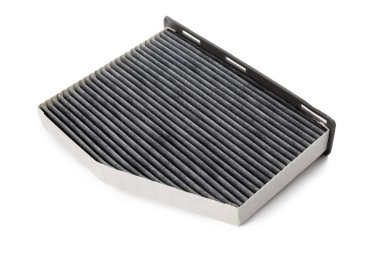 air filter  isolated on white background, close-up