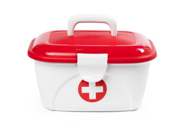 First Aid Kit on background