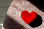 Cuore rosso, il concetto di giorno di San Valentino