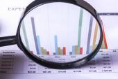 Graf růstu zvětšovací sklo a podnikání